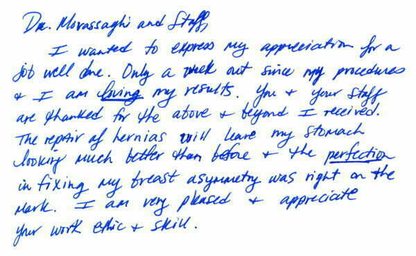 Testimonials thank you cards dr movassaghi testimonial october 2011 spiritdancerdesigns Choice Image