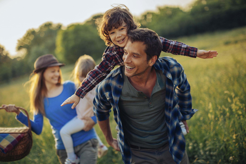 family-outside-spring