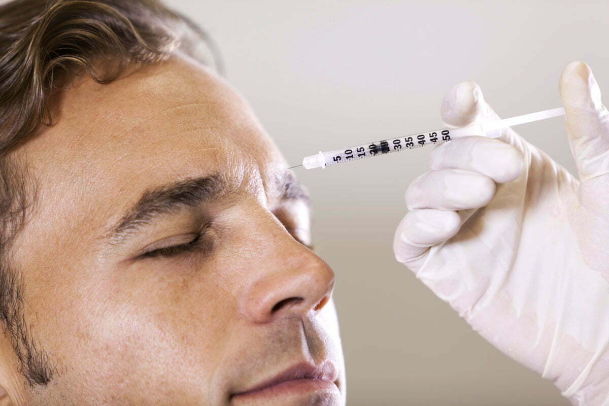 Botox injections for men